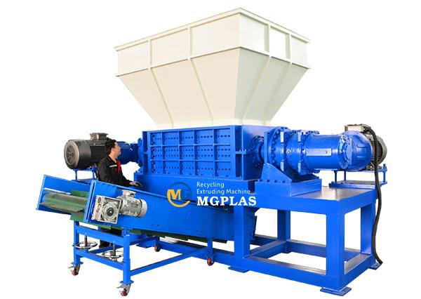 heavy duty waste plastic film dual shaft shredder machine