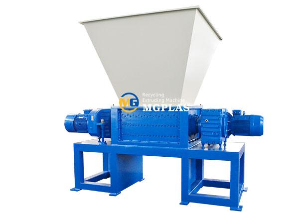 large capacity double shaft plastic film shredder machine