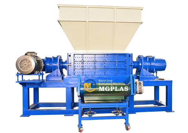 big model plastic IBC tank double shaft shredder machine