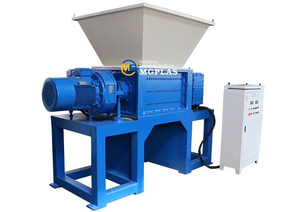 plastic pp woven bag twin shaft shredder machine