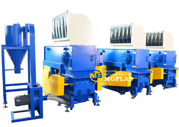 single shaft plastic lumps shredding and crushing machine