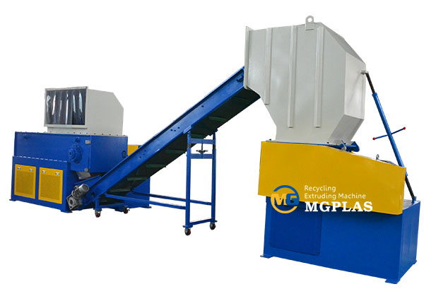 plastic lumps shredding and crushing production line