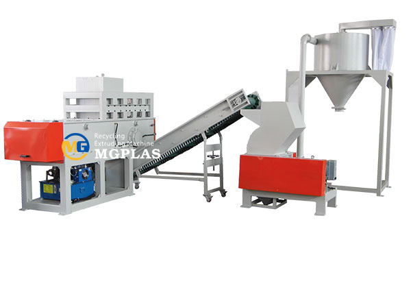 HDPE PPR PVC pipes plastic shredding and crushing production line