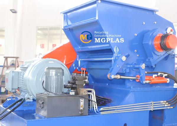 high efficiency plastic barrel crusher machine for waste HDPE barrel