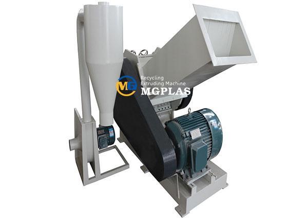 plastic pvc pipe crusher machine with long feeding hopper