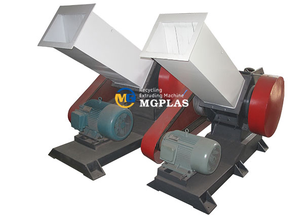 plastic pvc pipe crusher machine with long feeding hopper
